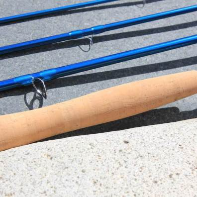 This photo shows the Redington Crosswater Fly Rod's cork handle.