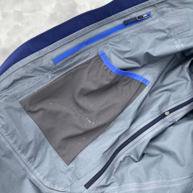 This photo shows the interior of the Objective Pro Jacket.