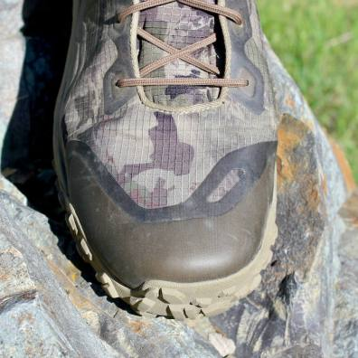 This Under Armour UA HOVR Dawn WP Boot photo shows the toe box of the boot.