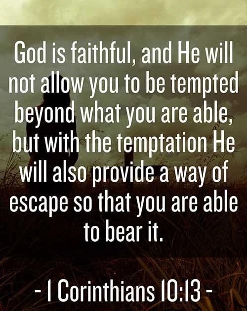 1 Corinthians 10:13 | Scripture Pictures by Verse | Amazing Facts