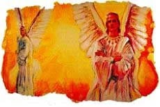 Lucifer was a heavenly angel created by God. He was perfect in wisdom and beauty and stood next to God's throne.