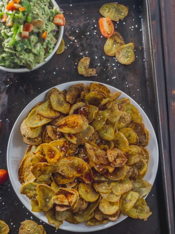 Better-for-you plantain chips that are crunchy and versatile. Your whole family will fall in love with them  Manna & Spice