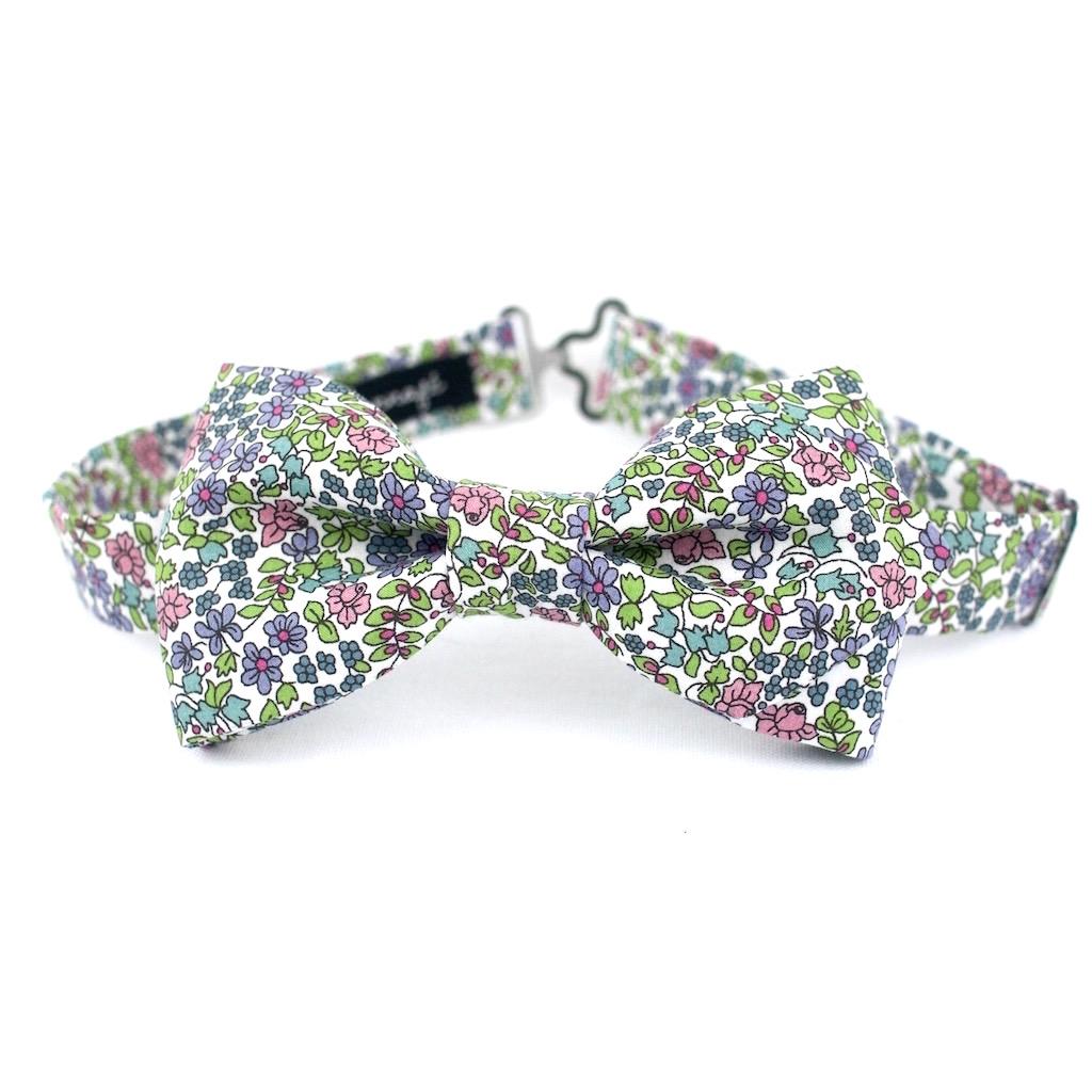 Noeud papillon Liberty Emilia's Flower vert
