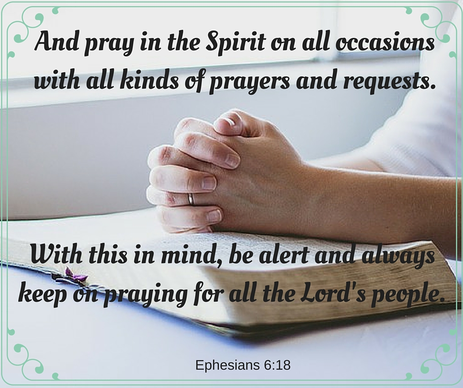 Pray in the Spirit