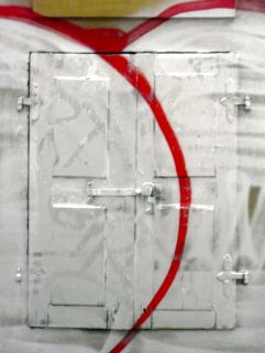 Graffiti window, Mondscheingasse, Vienna