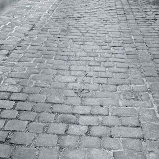 Cobblestone pavement, Vienna, Austria