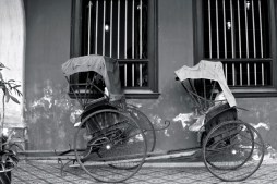Old rikshaw, Blue Mansion Penang, Malaysia