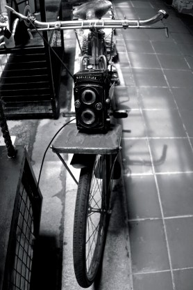 Bike with camera, Photography Museum, Penang, Malaysia