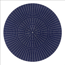 """Array 1000/Dark Blue"", 2011. Woodcut, edition of 15. 1000 mm diameter/45"" x 45""."