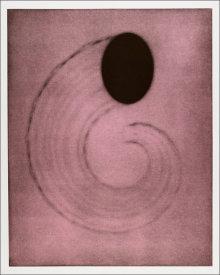 """Untitled (cornucopia)"", 2001.  Photogravure mono print with chine colle'. Image: 28"" x 22 ¼"", paper: 35"" x 29 ¼"". Edition # 3/25."