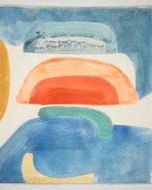 """""""Flood Tide"""", 2021. Monotype, 22"""" x 20""""."""
