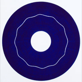 """Iris/2"", 2000.  Etching, edition of 20. Image: 10"" diameter, paper: 11"" x 11""."