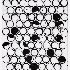 """90 Circles"", 2002. Etching, edition of 10. Image: 11 ½"" x 8 ½"", paper: 17"" x 14""."
