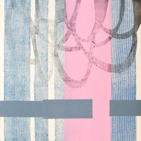 """Untitled"", 2009. Monotype. 44"" x 30""."