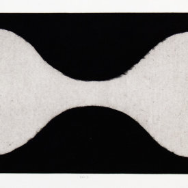 """Bra 2"", 2001. Mezzotint on handmade paper, edition of 13. 10 ½"" x 19 ½""."