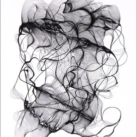 """""""Nest 45"""", 2008.  Etching, edition of 20. Image: 20"""" x 16"""", paper: 25"""" x 21""""."""