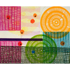 """""""Time Trails"""", 2021. Monotype. Image: 16"""" x 20"""", paper: 22 1/2"""" x 26""""."""