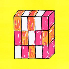 """Yellow Grid"", 2005. Linoleum cut, edition of 20. 22"" x 20"""