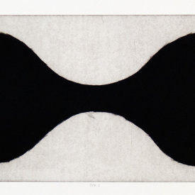 """Bra 1"", 2001. Mezzotint on handmade paper, edition of 13. 10 ½"" x 19 ½""."