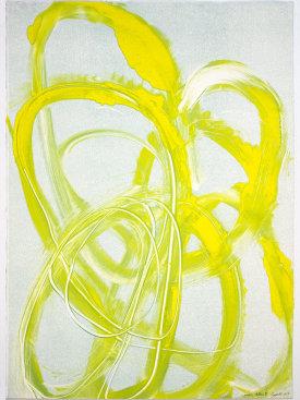 """""""Lemon Yellow III"""", 2017. Monotype, 29 1/2"""" x 21""""."""