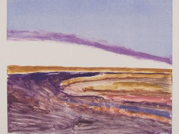 """Big Sky"", 2001. Monotype. Image: 19 ½"" x 24"", paper: 22"" x 30""."