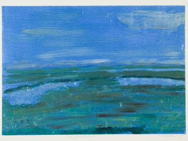 """""""Twilight Presence"""", 2005. Monotype. Image: 17"""" x 24"""", paper: 22"""" x 30""""."""
