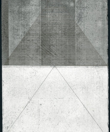 """Untitled XI"", 2015. Silverpoint and graphite with sanding on prepared paper. 12"" x 8 3⁄4""."
