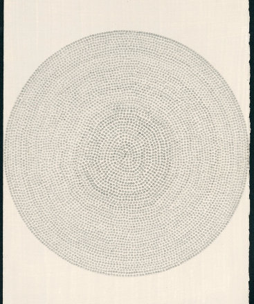 """""""Untitled XII"""", 2015. Silverpoint on prepared paper. 12"""" x 8 3⁄4""""."""