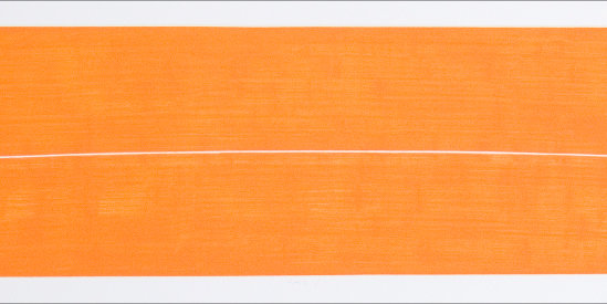 """""""Pale/1"""", 2002. Etching, edition of 25. Image: 7 ¼"""" x 39"""", paper: 10 ¼"""" x 44"""""""