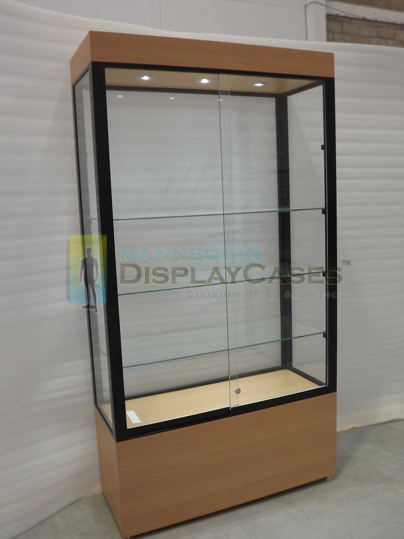 LARGE Free Standing Glass Showcases  MannequinDisplaycases