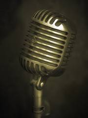 Microphone as a symbol for using your voice