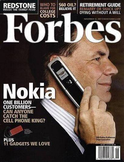 Nokia on the cover of Forbes Magazine