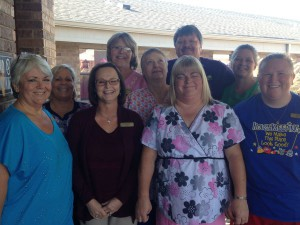 Cimarron Pointe staff pose for a photo to celebrate the success of the state survey.