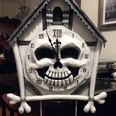 Cuckoo clock skull mask Mardi Gras 2016  part 3