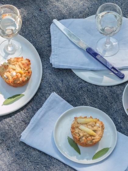 Herzhafte glutenfrei Spargel Käse Mufflins