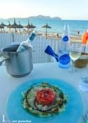Carpaccio vom Kabeljau mit Tomatensalat