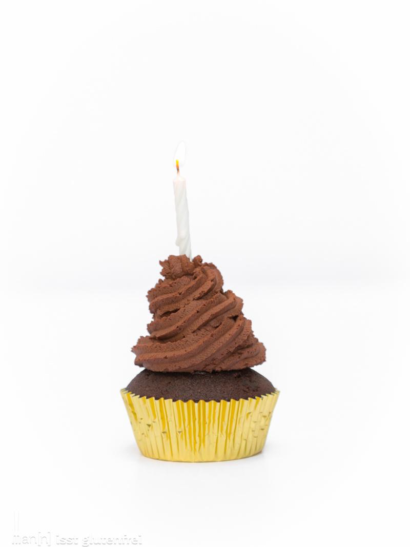 Double Chocolate Cherry Cupcakes - glutenfrei und laktosefrei