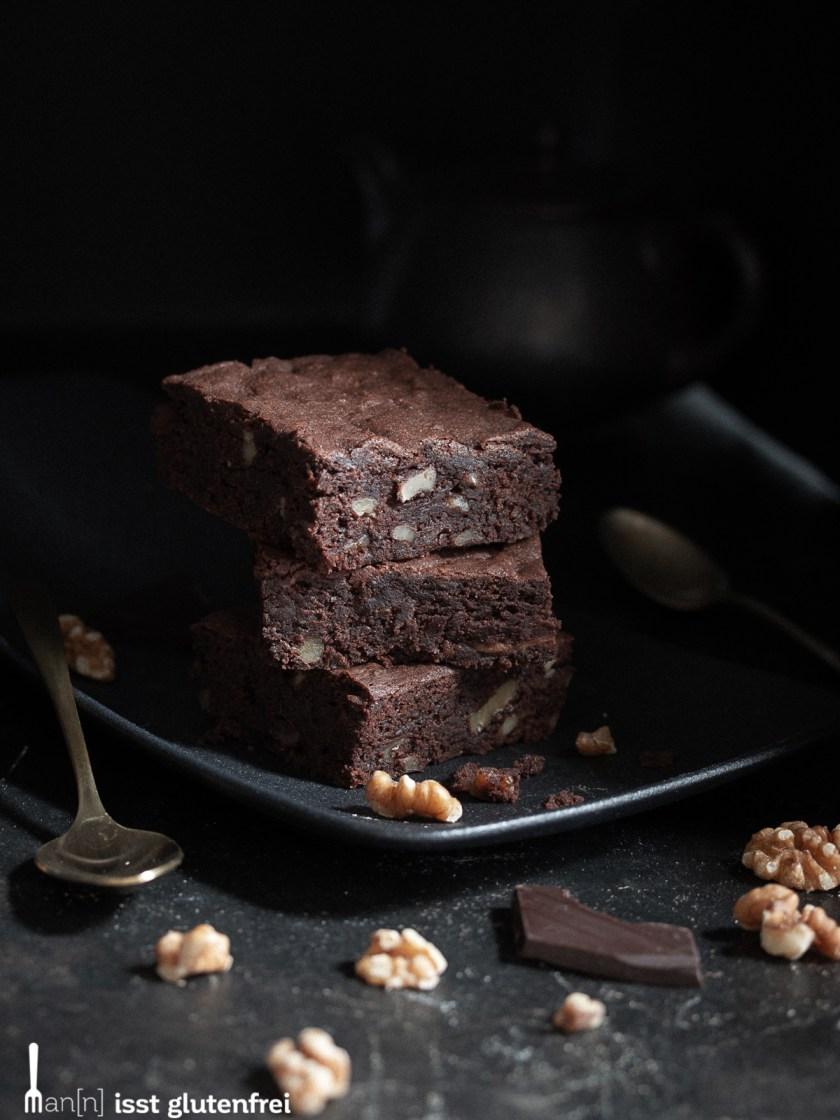 Walnuss Brownie - glutenfrei und laktosefrei