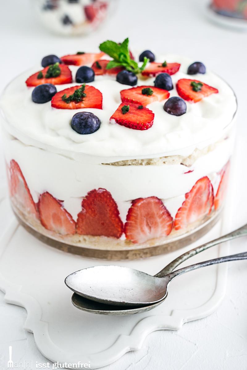 Erdbeertrifle- glutenfrei und laktosefrei