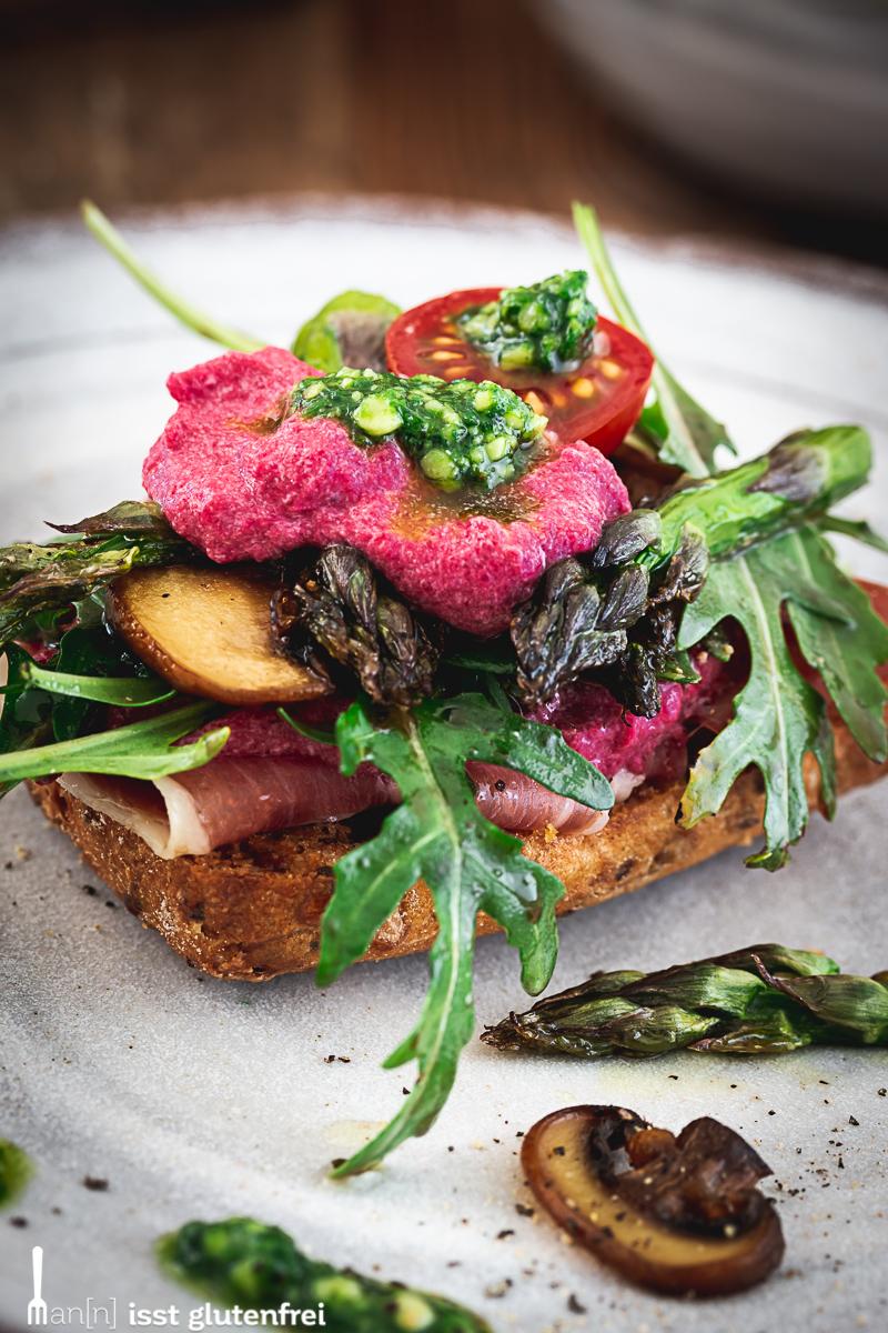 Rustikales Frühlings-Sandwich glutenfrei und laktosefrei