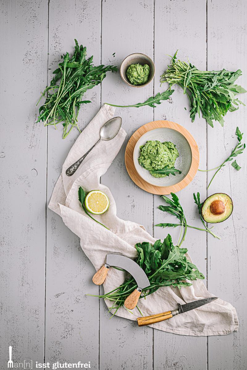 Low-Carb Avocado-Rucola Aufstrich - vegetarisch