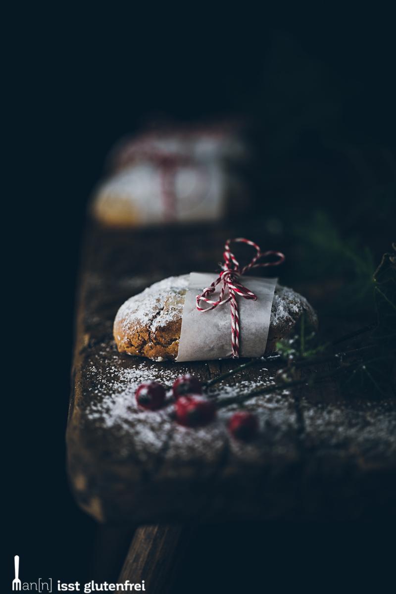 Mini Marzipan Quarkstollen - glutenfrei und laktosefrei