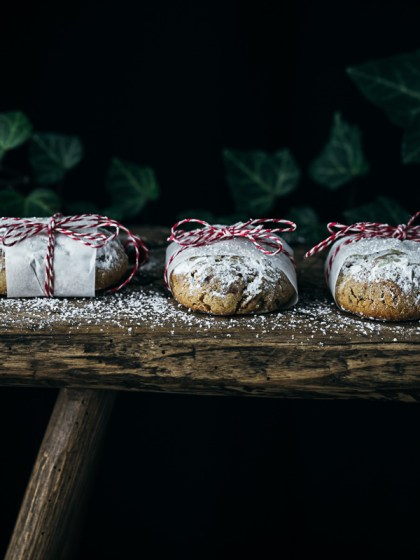 Mini Marzipan Quarkstollen