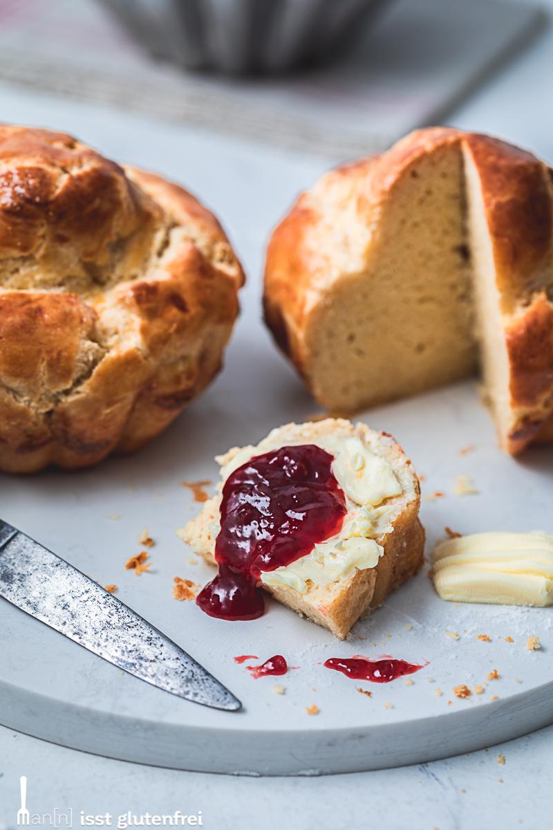 Französische Butter Brioche - glutenfrei und laktosefrei