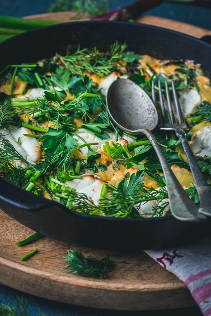 Ziegenkäse Spinat Frittata – glutenfrei und laktosefrei