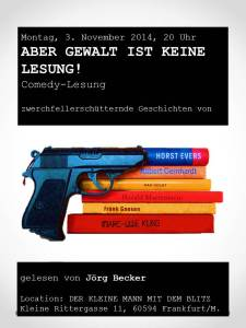 Aber Gewalt ist keine Lesung! Flyer