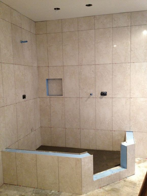 Recent tile jobs mann tile design studio and installation for Bathroom design jobs