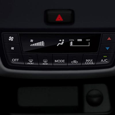 Aire acondicionado manual con panel LCD.   Máximo confort para todos los pasajeros gracias su sistema de aire acondicionado envolvente.