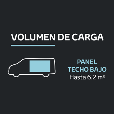 Panel Techo Bajo (DX).   La versión más compacta optimiza el espacio al máximo para brindarte una capacidad de carga de hasta 6.2 metros cúbicos.