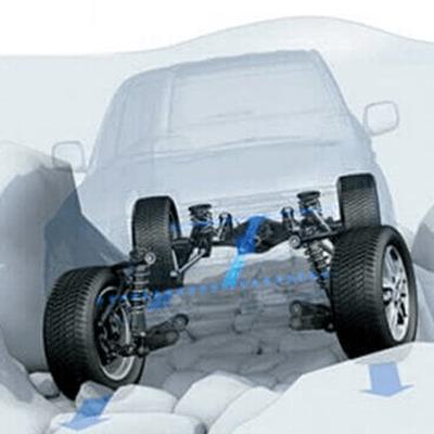 Chasis   Con láminas de acero de alta resistencia, que no solo le dan la fuerza y rigidez esenciales para el off-road, sino que dan mayor seguridad a sus ocupantes.